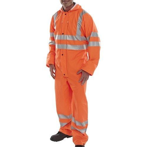 Click PUC471ORXXL Hi Vis Orange Breathable Coverall EN471 XXL