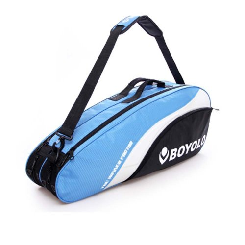 Single Shoulder Waterproof And Dustproof Racket Bag 6 Racquet Bag,Blue