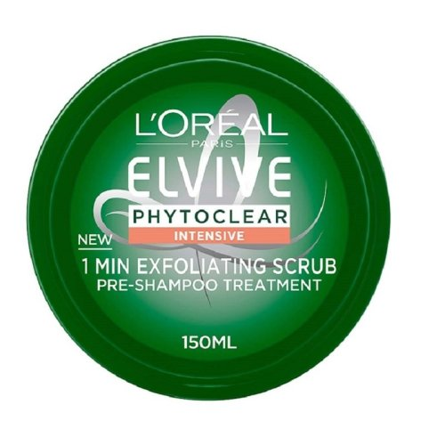 L'Oreal Elvive Phytoclear Intensive 1 Min Exfoliating Scrub Pre-Shampoo Treatment 150ml