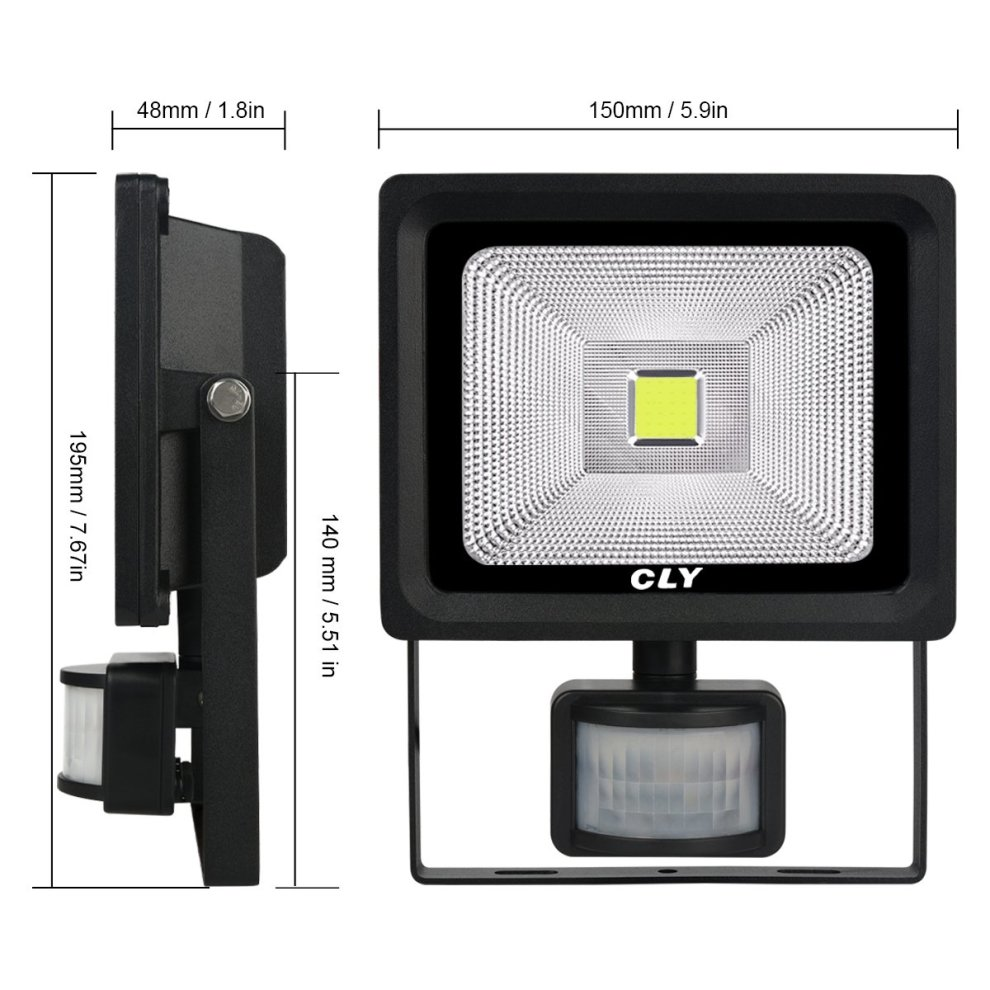 Cly 20w Outdoor Security Light With Motion Sensor Led Floodlight
