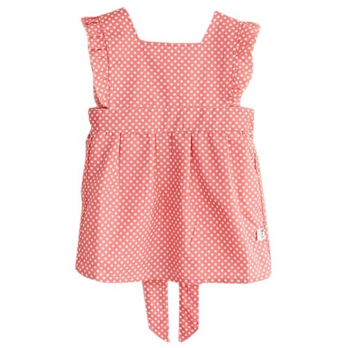 Cute Children Painting Clothes Waterproof Smock Dots Red