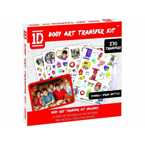 1d One Direction Body Art Transfer Kit, Tattoo 270 Transfers