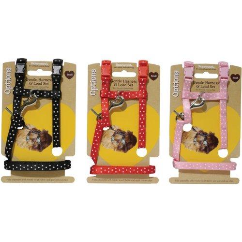 Options Small Animal Harness & Lead Set Polka Dot Small (Pack of 3)