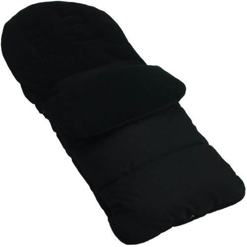 Footmuff / Cosy Toes Compatible with Chicco Pushchair Black Jack