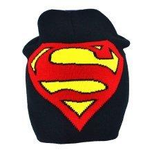 Dc Comics Batman Vs Superman: Dawn Of Justice Beanie Hat Superman Beanie Hat - -  superman hat junior new official crest roll down beanie logo