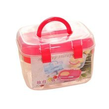 Multilayer Handheld Family Medicine Cabinet First Aid Kit Storage Box Red