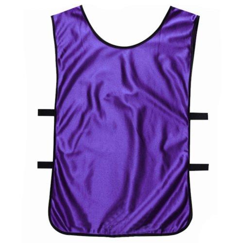 Set of 6 Basketball/Soccer Training/Scrimmage Vests Basketball Jersey, PURPLE
