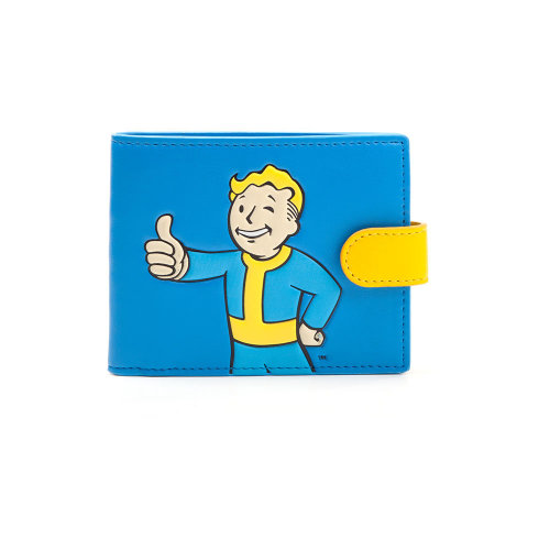 FALLOUT 4 Vault Boy Approved Bi-fold Wallet, Male, Blue/Yellow (MW040203FOT)