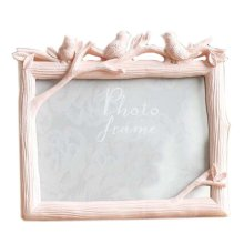 6-inch Photo Frame Bird Resin Creative Photoframe and Home Decoration, Pink