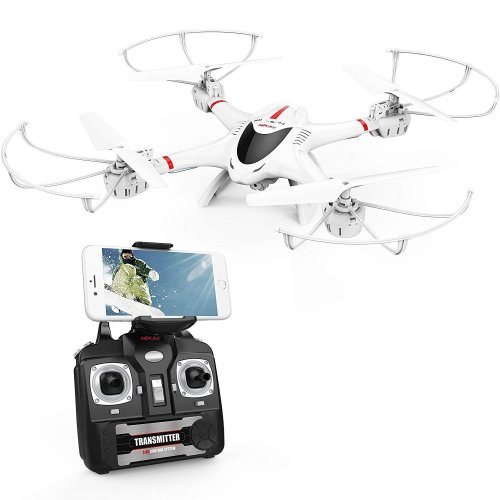 MJX X400C WIFI FPV Drone With Camera Live Video Headless Mode Quadcopter Stable Easy Control for Beginners and Practice Compatible with 3D VR Headset