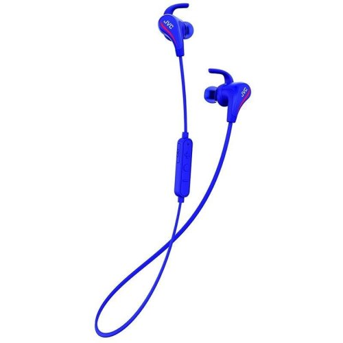 JVC AE Wireless Bluetooth Sports Headphones with Pivot Motion Fit - Blue