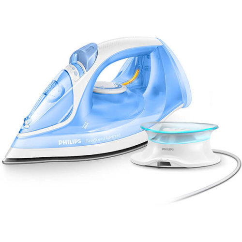 Philips EasySpeed Advanced Cordless Steam Iron with 190g Steam Boost, 2400W & Ceramic Soleplate – Blue - GC3672/26
