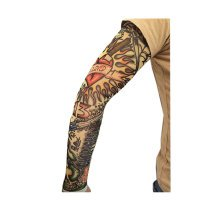 Tattoo Cycling Running Arm Warmers Cool Summer Arm Pro Arm Sleeves, M, 14