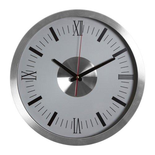 Vitus Two Tone Silver Wall Clock, Aluminium
