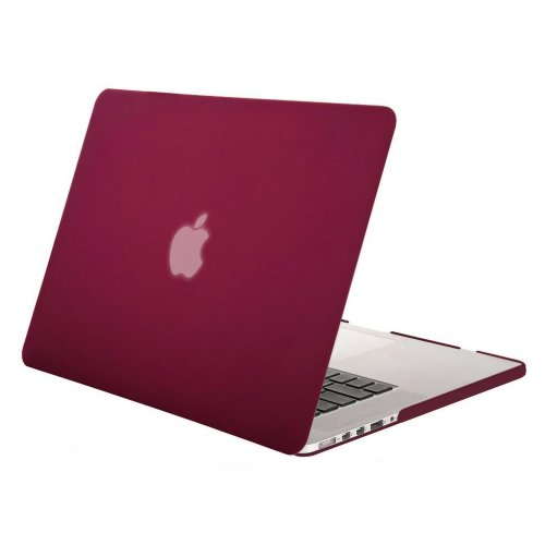 """MOSISO Plastic Snap On Case Cover for MacBook Pro 13"""" Retina  Wine Red"""