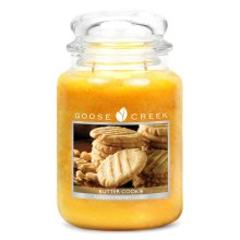 Goose Creek 24oz Large Scented 2 Wick Candle Jar Butter Cookie