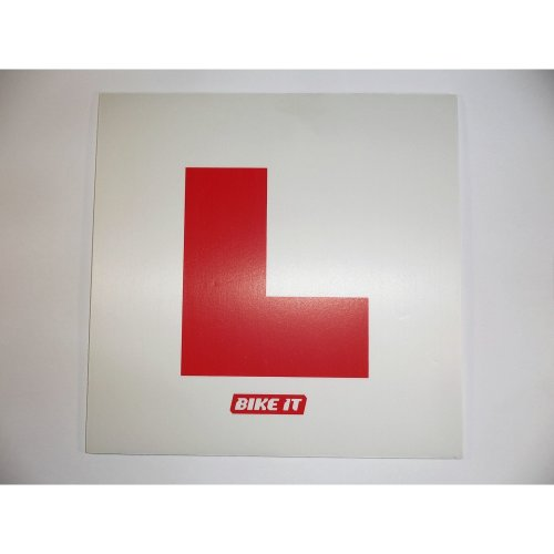 Rigid L-plate with fixing brackets learner plate scooter motorcycle