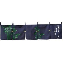 "Japanese Noren Doorway Curtain 210'' Width x 45"" Long"