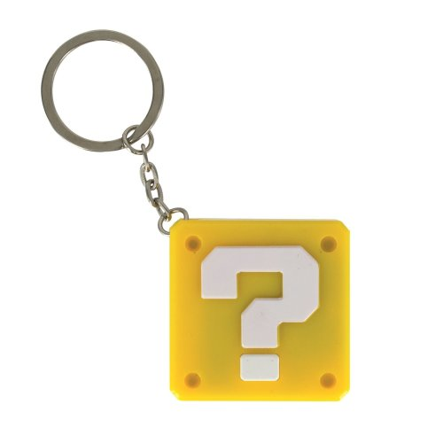 Super Mario Question Block Keyring Light Official Sounds Retro Gift