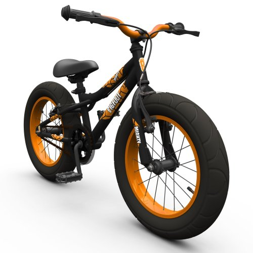 "16"" BIGFOOT Boys KIDS BIKE - Childrens SILVERFOX Bicycle in BLACK (Fat Tyres)"