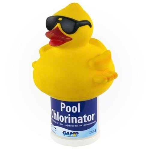 GAME Derby Duck Floating Swimming Pool and Spa Chlorinator