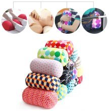 Mini Microbead Roll Cushion Cover Roll Pillow Rest Neck Body Back Sleep