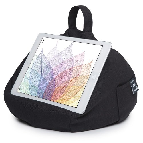 iBeani iPad & Tablet Stand/Bean Bag Cushion Holder for All Devices/Any Angle on Any Surface - Black