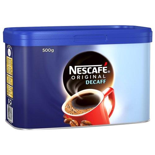 Nescafe Original Decaf Coffee Granules Tin 500g