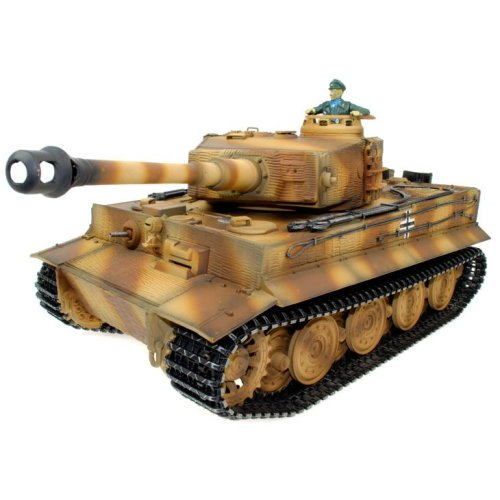 Taigen Hand Painted RC Tank Full Metal Upgrade Version Tiger Camo RTR