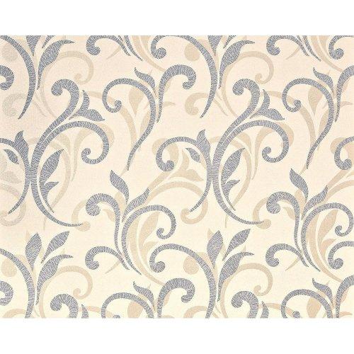 EDEM 928-29 non-woven floral wallpaper XXL flowers silver beige 10.65 m2