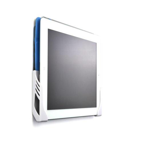 Dockem Koala Tablet Wall Mount Dock for iPad 1/2/3/4, Mini, Air, Xperia Z, Samsung Galaxy Tab/Note, Nexus 7/10, and more (White Brackets, Screw-in...