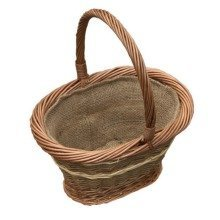 Small Bramley Shopping Basket with Hessian Lining