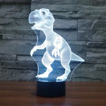 Dinosaur Colorful 3D LED Lights USB Battery Touch Control Night Light Gift