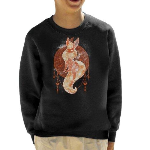 Pokemon Starry Sky Of Fire Kid's Sweatshirt