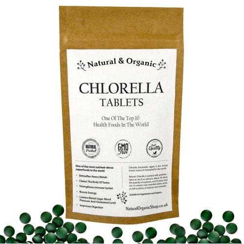 Natural & Organic - CHLORELLA Tablets - Cracked Cell Wall