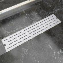 vidaXL Linear Shower Drain Line 530x140 mm Stainless Steel