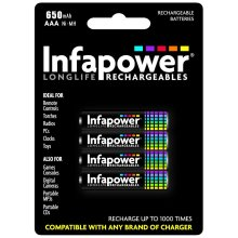 Infapower B001 Rechargeable AAA Ni-MH Batteries 650mAh