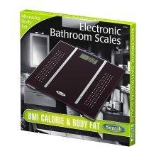 Black Sentik BMI Calorie & Body Fat Bathroom Weighing Scales Digital Display