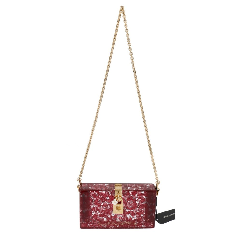 7f933c58dc Dolce & Gabbana Red Taormina Lace Crystal Clutch Bag on OnBuy