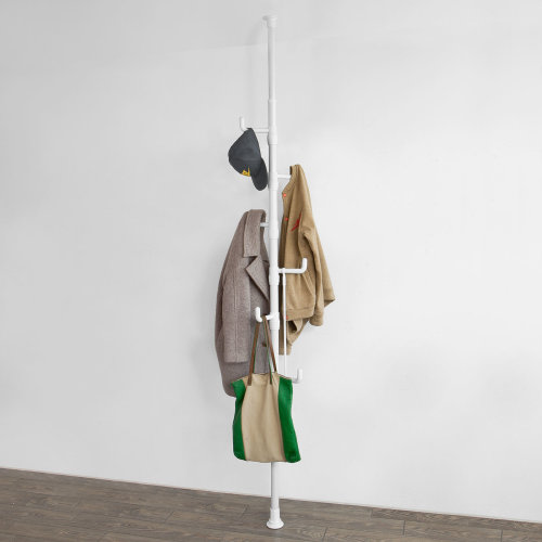 SoBuy® FRG159-W, Height Adjustable Coat Rack Clothes Organiser Telescopic Rack