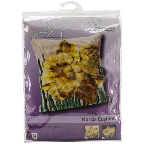 """Narcis Cushion Tapestry Kit-15.75""""X15.75"""" Stitched In Floss"""