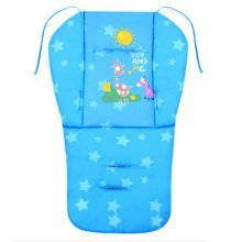 Cut Breathable Thicken Baby Strollers Mat Stroller Seat Liners - Blue Deer