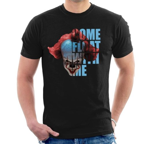 It Pennywise Half Head Text Men's T-Shirt