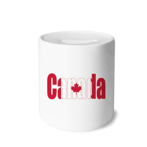 Canada Country Flag Name Money Box Saving Banks Ceramic Coin Case Kids Adults
