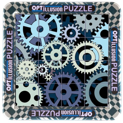 3d Magna Optillusion Cogs Mini Magnetic Jigsaw Puzzle (16 Pieces)