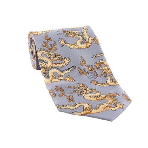 Chinese Style Dragon Pattern Ties Business Neckcloth Men Necktie Gift, 02