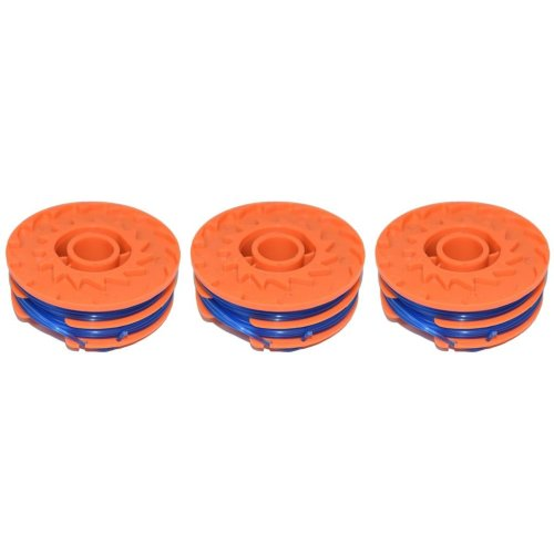 3 x Spool & Line For Worx WG108 (WRO1088) Strimmers 5 Metre