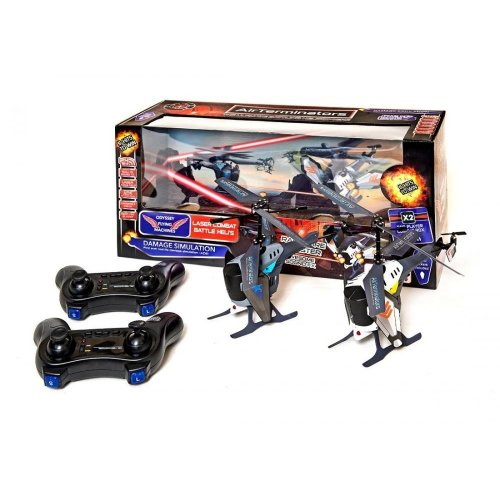 REMOTE CONTROL HELICOPTERS PAIR