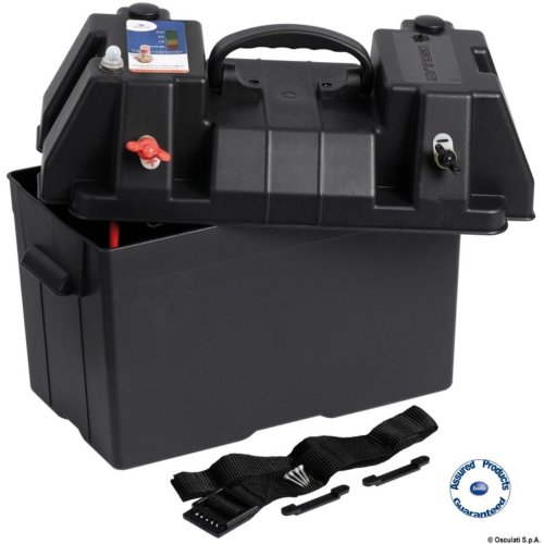 Osculati Marine 12V Power Centre Battery Box - with 12V Watertight Outlet Socket