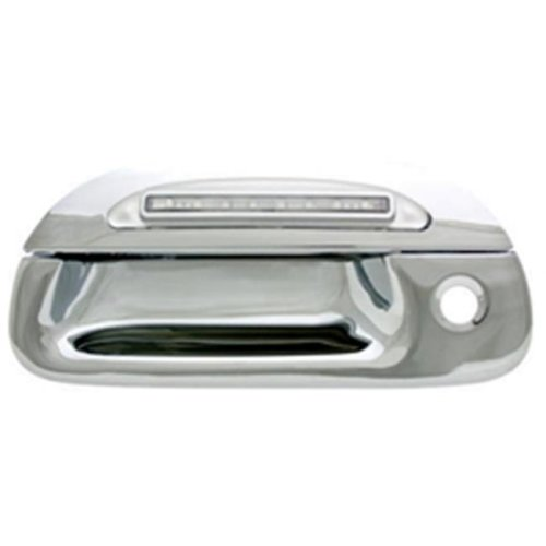 Ford F150, F250 Ld 1997 - 2003 LED Tailgate Handle, Chrome Red Led, Clear Lens